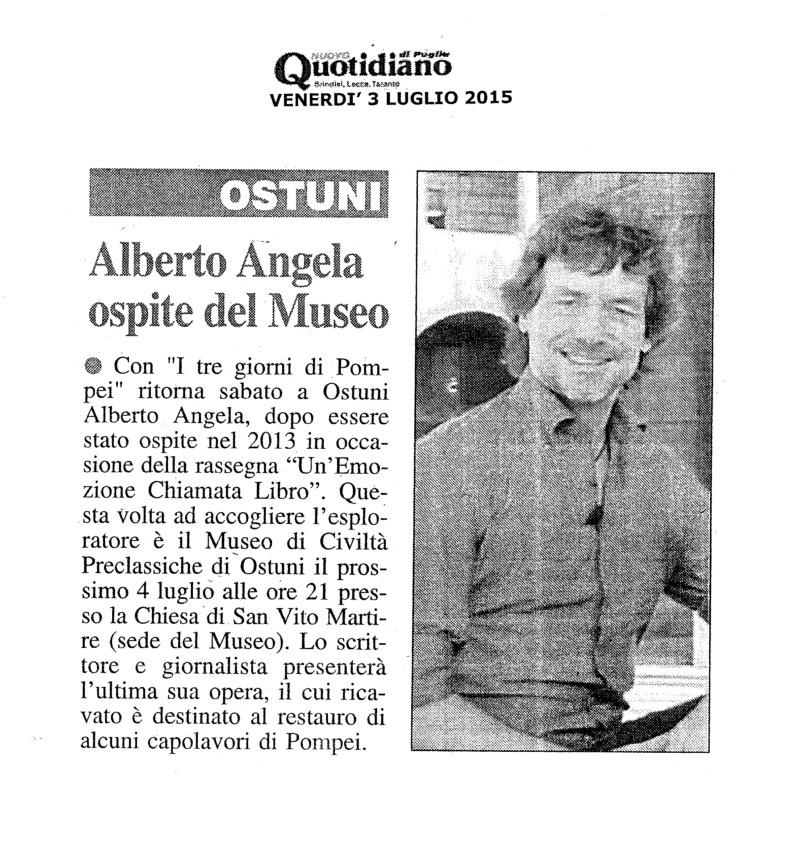 Alberto Angela ospite al Museo