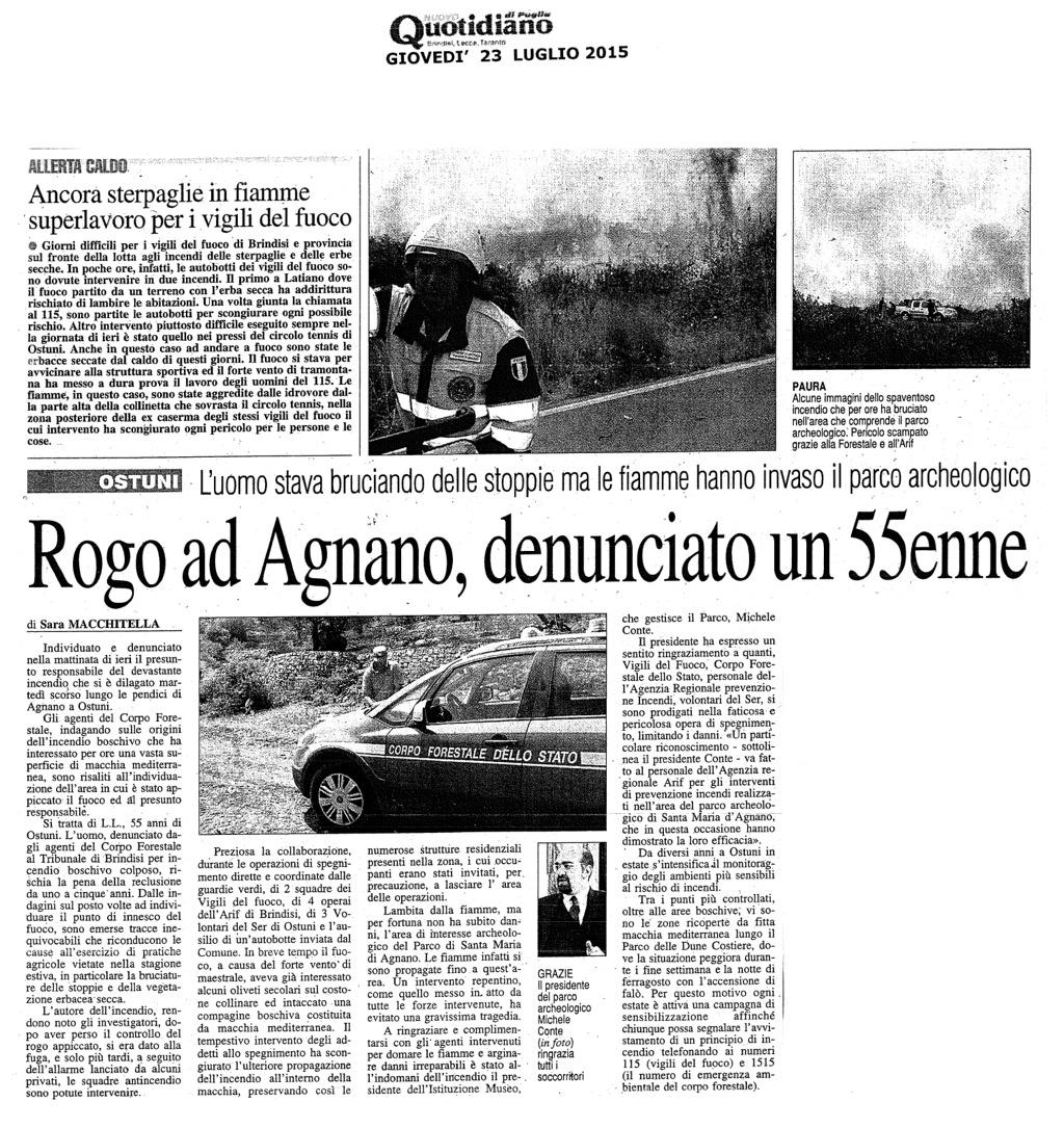 Rogo ad Agnano, denunciato un 55enne