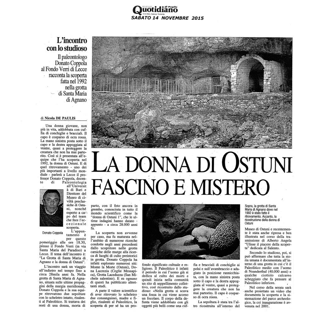 La Donna di Ostuni, fascino e mistero
