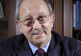 Pierluigi Battista giornalista del Corriere della sera, scrittore e conduttore televisivo, italiano